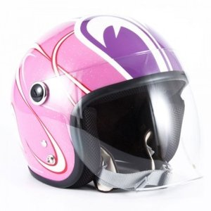 72JAM(ジャムテックジャパン) ジェットヘルメットSP TADAO(SP忠男) レディース(ピンク) [SPL-01]|e-net
