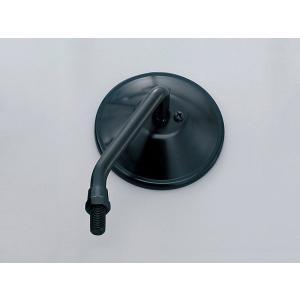 デイトナ(DAYTONA)ショートステムミラー ラウンド 左側 10mm ブラック[47555] e-net
