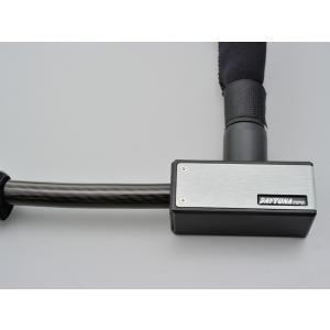 デイトナ(DAYTONA) ストロンガーロック ディスクロック&ワイヤー 1800mm/シルバー (97682)|e-net
