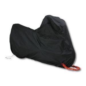 【在庫有】デイトナ(DAYTONA)バイクカバー(車体カバー・盗難防止・溶けないパッド付) ブラックカバー シンプル(BLACK COVER Simple) サイズ:L (98202)|e-net