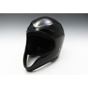 【K】イージーライダース(EASYRIDERS) クルーフェイスヘルメット 黒 装飾用 黒[9855-BK] e-net