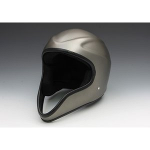 【K】イージーライダース(EASYRIDERS) クルーフェイスヘルメット マットガンメタリック 装飾用 マットガンメタリック[9855-MGM] e-net