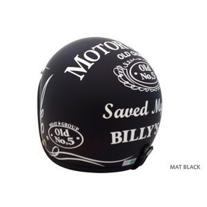 ヒートグループ ジェットヘルメット OLD CHAMP (マッドブラック/フリー)|e-net