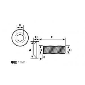 キタコ(KITACO) (K-CON) ローターボルト(ステンレス) ヤマハtype1/M8XP1.25/10ヶ  サイズ=A:16 B:8 C:8 D:5 E:25 F:4(0900-500-07204)|e-net|02