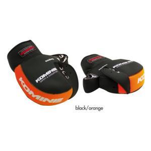 コミネ(KOMINE) AK-021 ネオプレーンハンドルウォーマー(ブラック/オレンジ・フリー)|e-net