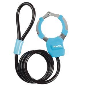マスターロック(Master Lock)盗難防止用品 手錠型ケーブルロック(ブルー) 8275JADPROBLU e-net
