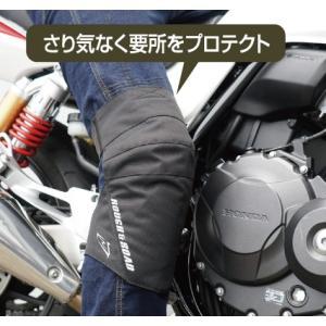 ラフ&ロード(ラフアンドロード) 秋冬モデル  RR10064 ステルスフィットニープロテクター [ブラック/フリー]|e-net|02