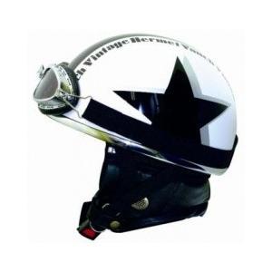 ライズ(RIDEZ) バンチ ビンテージ ハーフヘルメット ホワイト/ブラック e-net