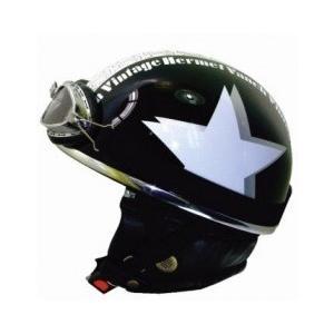ライズ(RIDEZ) バンチ ビンテージ ハーフヘルメット ブラック/ホワイト e-net