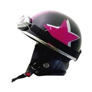 ライズ(RIDEZ) バンチ ビンテージ ハーフヘルメット ブラック/PK FREE(57 e-net