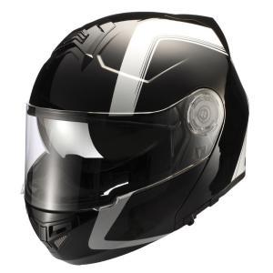 ライズ(RIDEZ) フルフェイスヘルメット GK フェアライン ブラック/ホワイト フリー(57〜60cm未満)|e-net