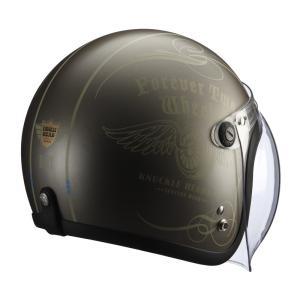 【送料無料】【在庫有】ライズ(RIDEZ) シールド付き ジェットヘルメット KNUCKLE HEAD(ナックルヘッド) フライホイール2 ブラウン/アイボリー e-net 02