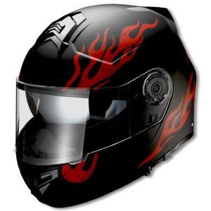 ライズ(RIDEZ) フルフェイスヘルメット GK ファイヤー ブラック/レッド フリー(57〜60cm未満)|e-net