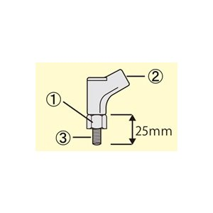 タナックス(TANAX) アダプター・ミラーオプション ミラー補修部品 NP-005(M10正ターナー・クローム) e-net