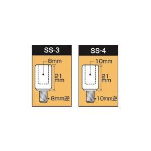 タナックス(TANAX) アダプター・ミラーオプション スリムステンレスアダプター SS-3(8mm正→8mm逆)|e-net