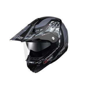 ウインズ(WINS)オフロードインナーバイザーつきヘルメット X-ROAD グラフィック(FREE RIDE) (マットカモグレー・M)|e-net