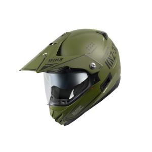 ウインズ(WINS)オフロードインナーバイザーつきヘルメット X-ROAD グラフィック(COMBAT) (マットアーミーグリーン×ブラック・M)|e-net