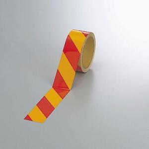 反射トラテープ(赤黄)45mm幅×10mm巻 374-17|e-netsign