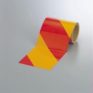 反射トラテープ(赤黄)150mm幅×10mm巻 374-19|e-netsign