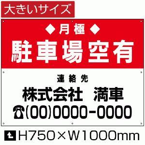 月極 駐車場 空き有り 看板 契約者募集看板 駐車場 H75cm×W1m|e-netsign