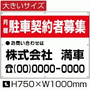 月極 駐車 契約者募集 看板 契約者募集看板 駐車場 H75cm×W1m|e-netsign