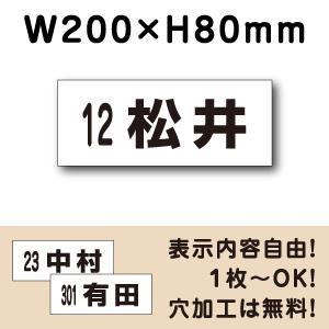 駐車場看板 ◎駐車場 ネーム看板プレート ■サイズ:H80×W200ミリ■CN-2-4|e-netsign
