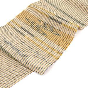 【B反】夏帯 八重山上布 苧麻 手織り絣文様 本草木 九寸 名古屋帯|e-obiya