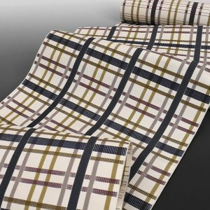 博多帯 松装織物 謹製 本場筑前博多織 狂言格子 金印 八寸 名古屋帯|e-obiya