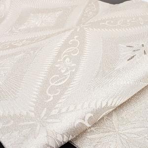 西陣 まいづる 謹製 七宝銀刻文 銀繍 西陣織 袋帯