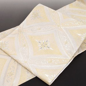 西陣 まいづる 謹製 七宝銀刻文 銀繍 西陣織 袋帯|e-obiya