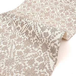 【10%OFF】サマーSALE高級 西陣織 老舗 梅垣織物 謹製 ヴィクトリア菱文 袋帯 グレー e-obiya