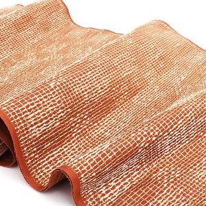 (訳あり)西陣織 某有名 一流機屋 謹製 錦織 九寸 名古屋帯 茶|e-obiya