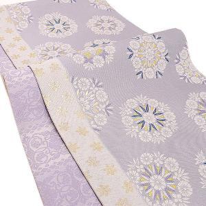 【60%OFF】サマーSALE西陣織 名門 となみ織物 謹製 しょうは織 両面柄 袋帯 紫|e-obiya