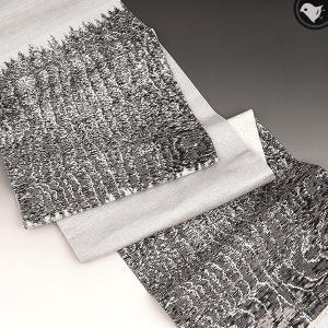 【帯10%offクーポン有♪】桝屋高尾 著羅絹(チョロケン) 西陣織 黒うるし箔 袋帯 正絹 日本製 e-obiya