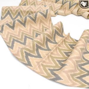[かなりお得な♪未使用/新古帯!] 京都名門 貴久樹 謹製 タッサーシルク 手織り 袋帯 ベージュ (仕立て上がり帯)|e-obiya