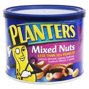 プランターのミックスナッツ。 ピーナッツ、アーモンド、カシューナッツ、ブラジルナッツ、へーゼルナッツ...