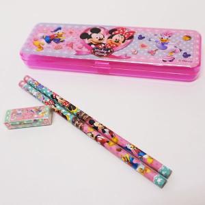 ミッキーファミリーペンケース入り文具セット 12個 / 景品 プレゼント 粗品|e-omatsuri