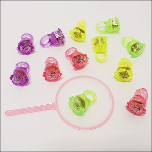 水に浮くすくい用おもちゃ ぷかぷか光る花の指輪(36個)/ 水のおもちゃ すくい用品 縁日  [動画有] e-omatsuri 03
