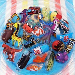 パンチボール色々つりつり大会 55個+予備5個(釣竿2本付) [ビニールヨーヨー お祭り用品]|e-omatsuri