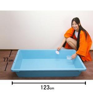 金魚水槽[水そう]  123cmプラスチック樹脂製/水のおもちゃ 金魚 スーパーボール 人形 すくい...