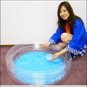 80cm 丸型プールとミニポンプ / すくい用品 お祭り 縁日|e-omatsuri