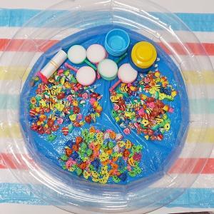 ぷかぷかプラスチック熱帯魚すくい大会セット(プラ魚300個+ポイ100枚) e-omatsuri