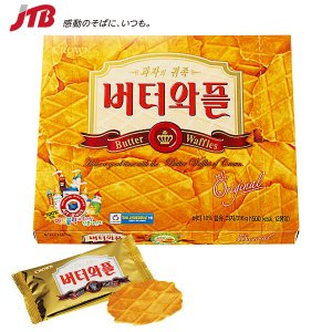 韓国 お土産 韓国 バターワッフルクッキー1箱|クッキー アジア 食品 韓国土産 お菓子 n0508