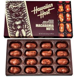 Hawaiian Host マカダミアナッツチョコ ティキボックス 16粒入