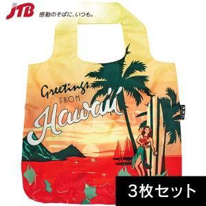 ハワイ お土産 エンビロサックス ハワイエコバッグ3枚セット|ポーチ・バッグ ハワイ 雑貨 ハワイ土産