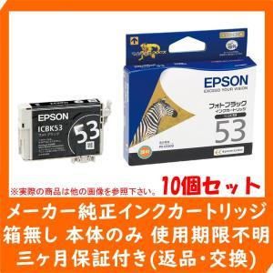 【純正アウトレットインク】EPSON(エプソン)純正 インクカートリッジ 10個セット フォトブラック ICBK53 《発送日より3ヶ月間保証付》|e-plaisir-shop