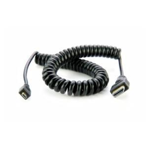 ATOMOS カール加工 micro HDMI to full HDMI Cable (50cm-65cm) ※HDMI 1.4(4K 30p対応)ケーブル(PVC製) ATOMCAB014|e-plaisir-shop