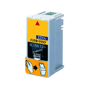 EPSON(エプソン) IC1BK12対応(ブラック) 互換インクカートリッジ プレジール(Plaisir) PLE-E12B e-plaisir-shop