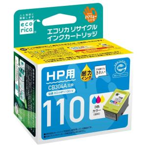 HP(ヒューレット・パッカード) CB304A対応(カラー) リサイクルインクカートリッジ エコリカ(ecorica) ECI-HP110C-V