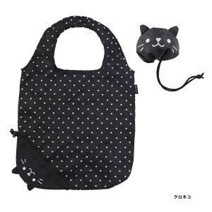 エコバッグ アニマル 動物 クロネコ 黒猫 黒ネコ クロ猫 折りたたみ コンパクト キッズ かわいい プチプラ ギフト プレゼント  エコロン イープレジールPayPayモール店